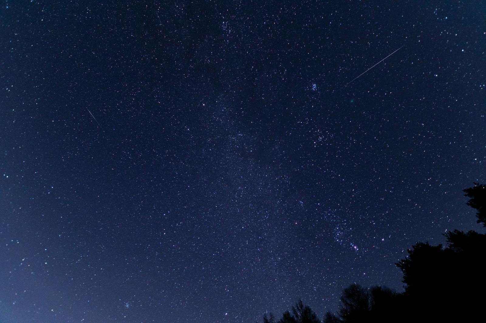 「ふたご座流星群(巣栗渓谷)」の写真
