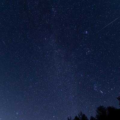 ふたご座流星群(巣栗渓谷)の写真