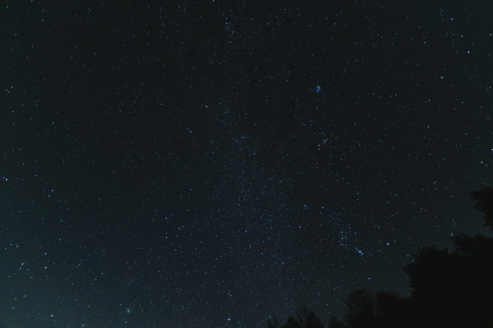 「巣栗渓谷の星空」の写真