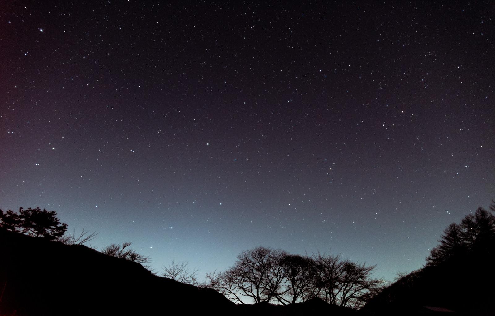 「巣栗渓谷から見た北斗七星」の写真