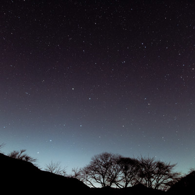 巣栗渓谷から見た北斗七星の写真