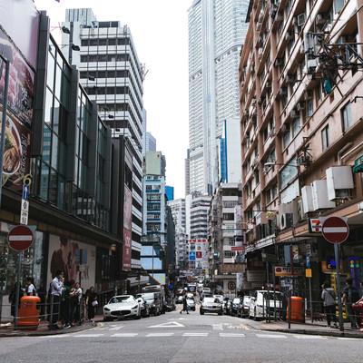 香港の街並みの写真