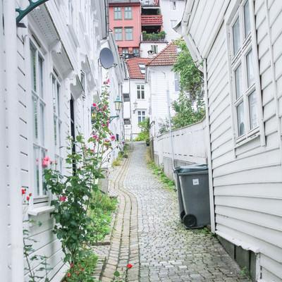 ベルゲンの北欧の建物の写真