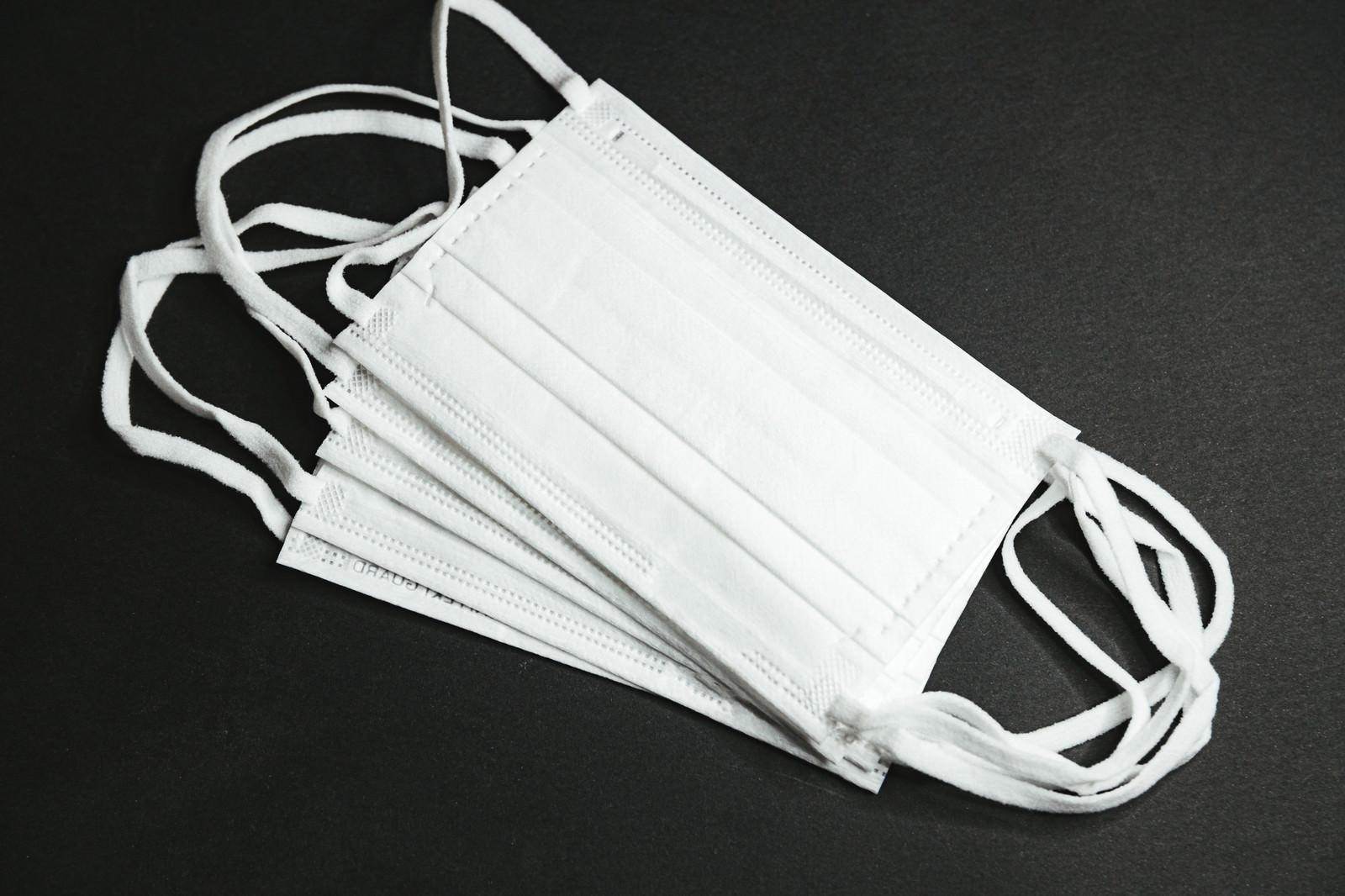 「複数枚の市販品マスク」の写真