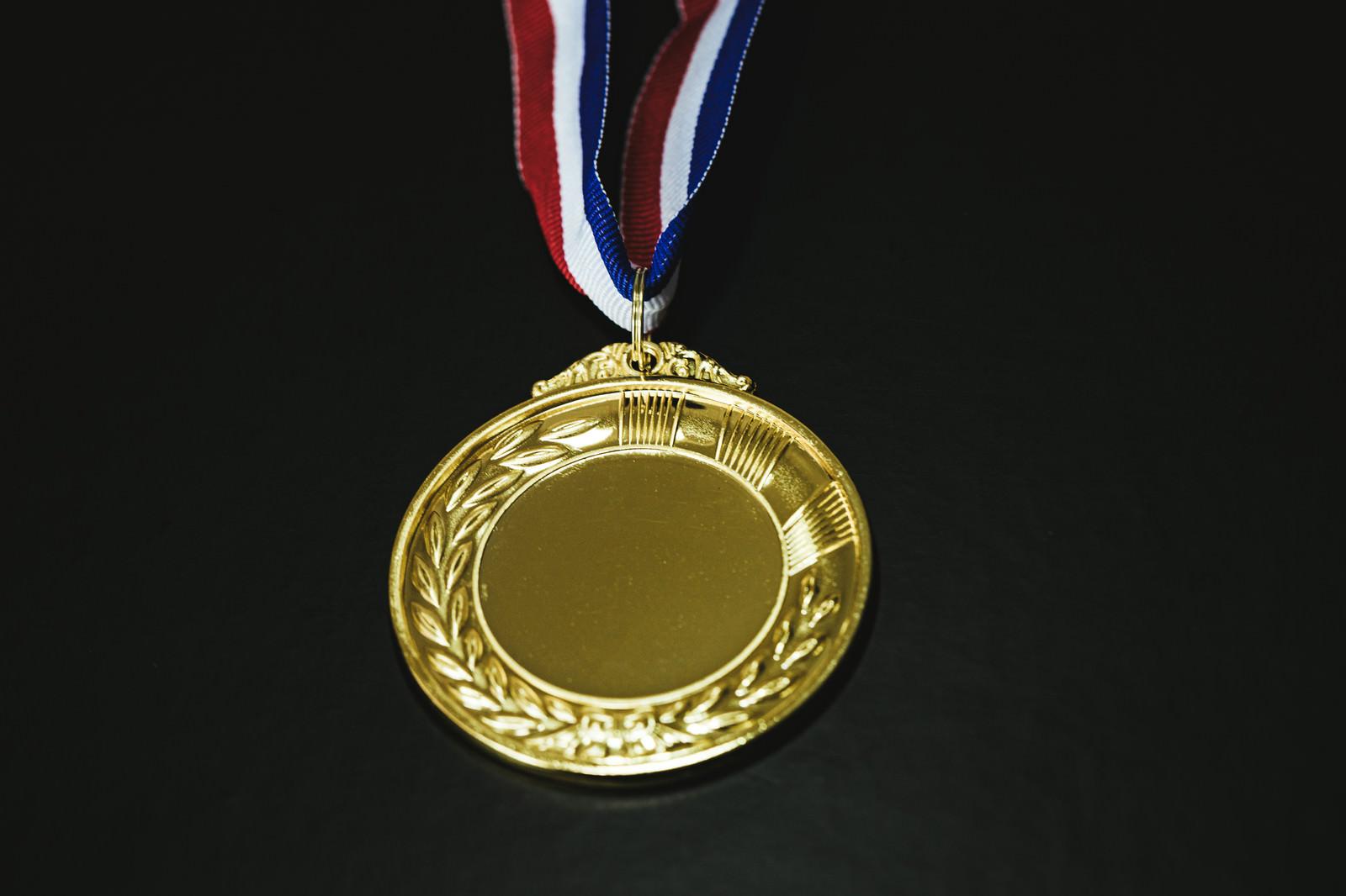「金メダルを獲得」の写真