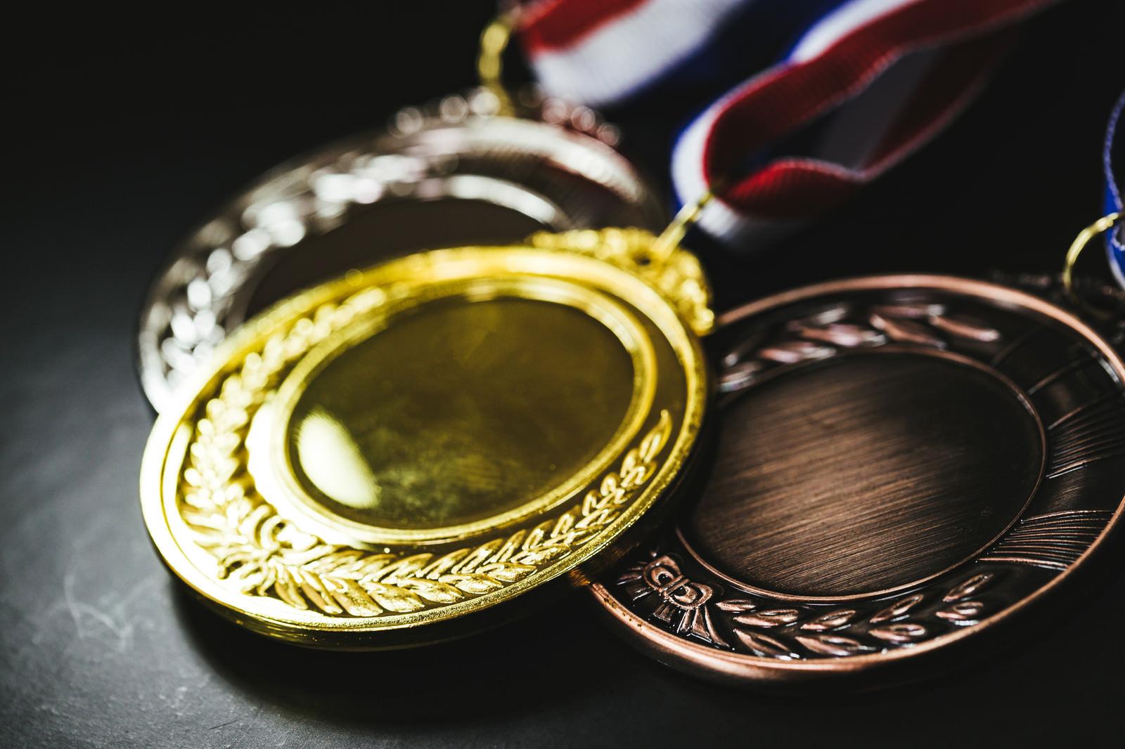 「もっとも輝く金メダル」の写真