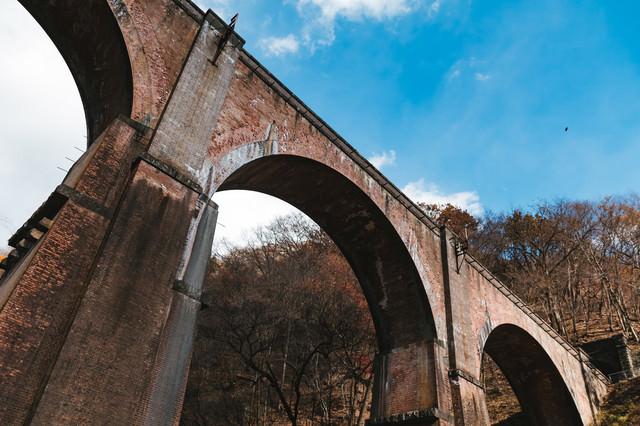 群馬県安中市にある鉄道橋「碓氷第三橋梁」の写真