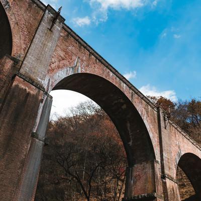 「群馬県安中市にある鉄道橋「碓氷第三橋梁」」の写真素材