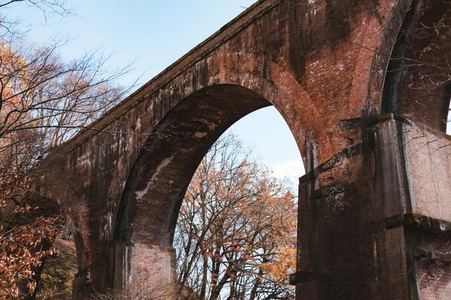 煉瓦アーチ(群馬県めがね橋)の写真