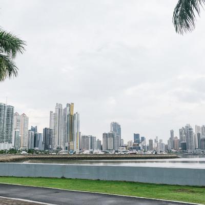 「パナマの海岸と都市」の写真素材