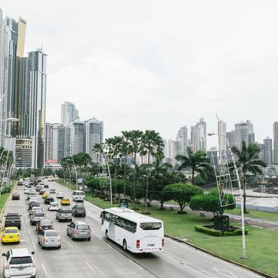 「新興国「パナマ」の街並み」の写真素材