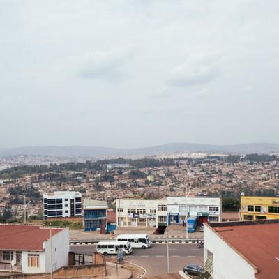 ルワンダのキガリの街並みの写真