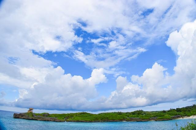 孤島のような入り江の写真