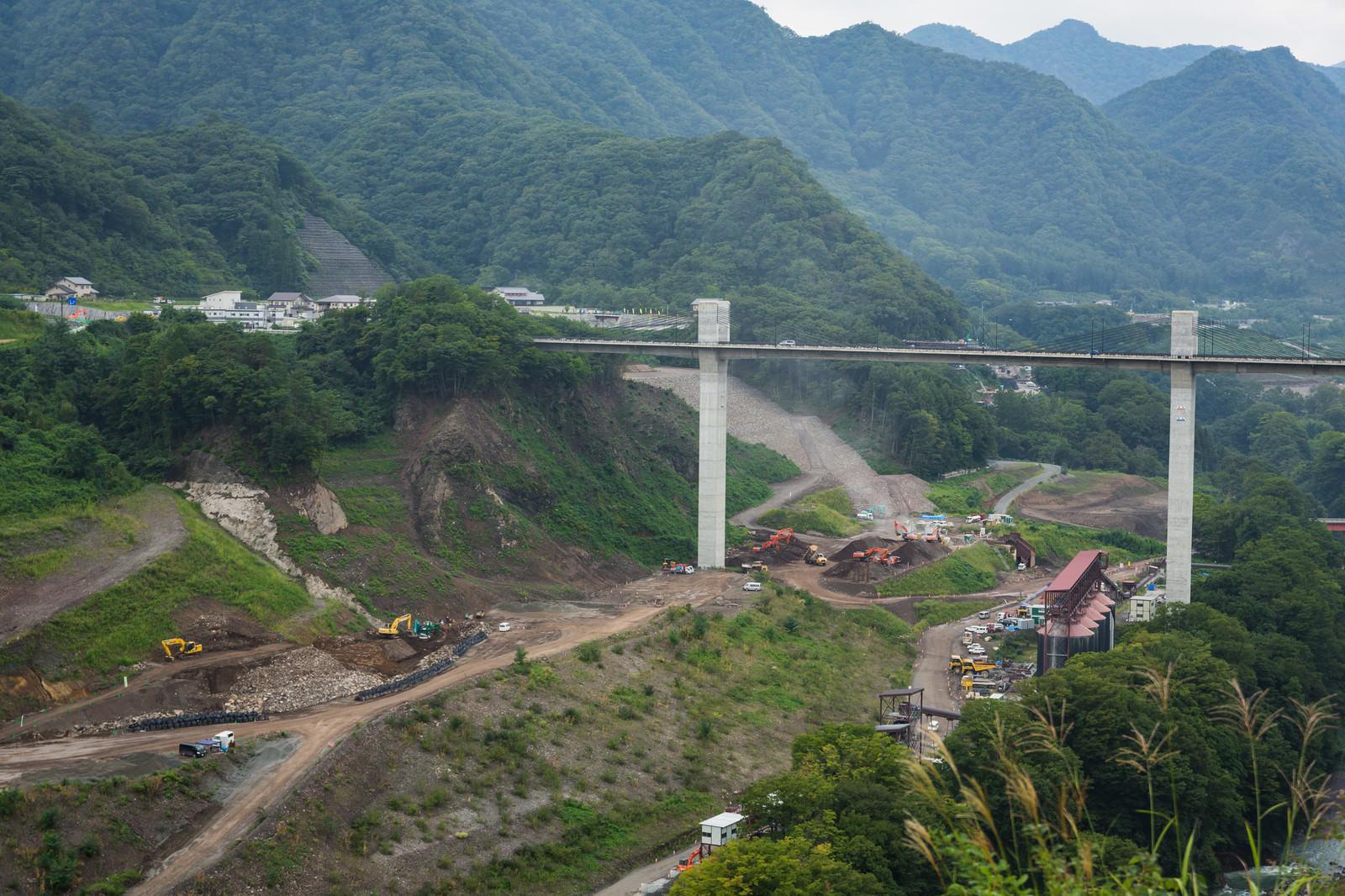 「工事が進む八ッ場ダム」の写真
