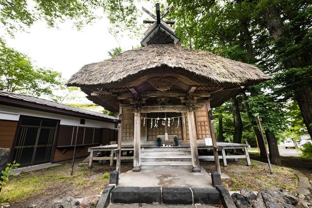 北軽井沢開発の祖「北白川宮能久親王」を祀った牧宮神社の写真
