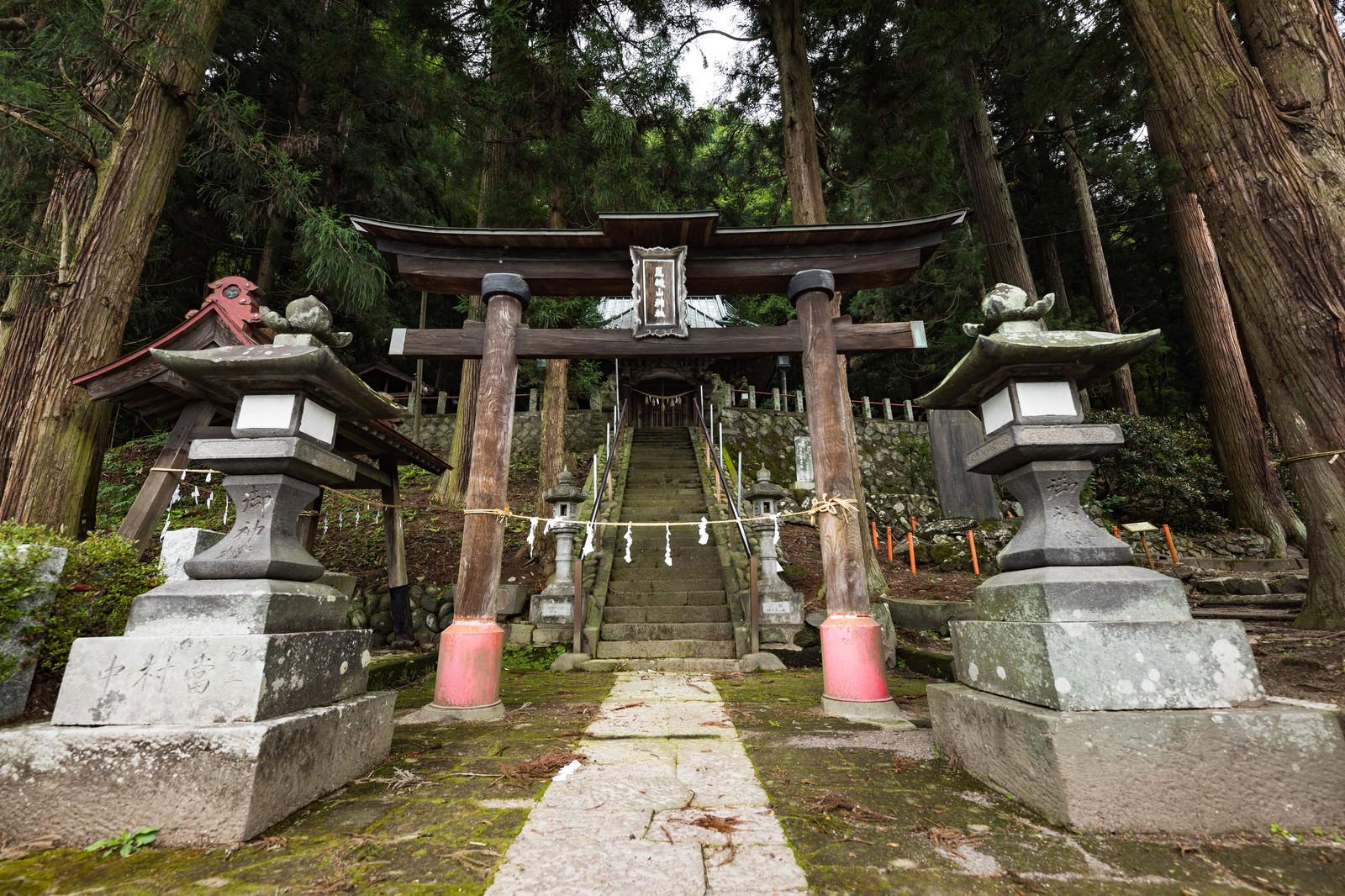 「王城山神社の鳥居」の写真