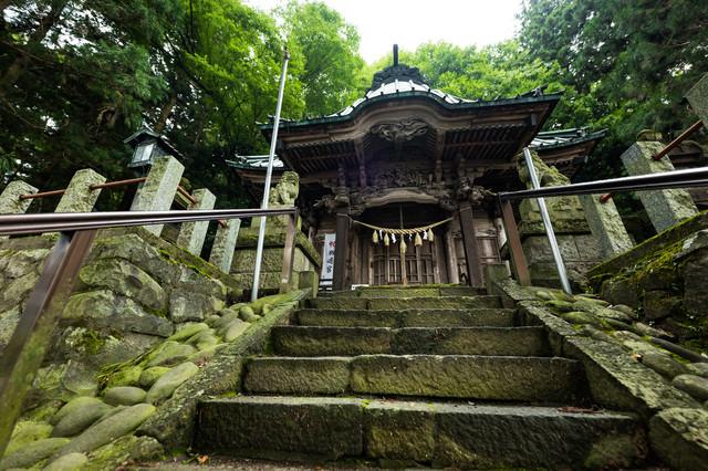 群馬県の長野原町にある王城山にある「王城山神社」の写真
