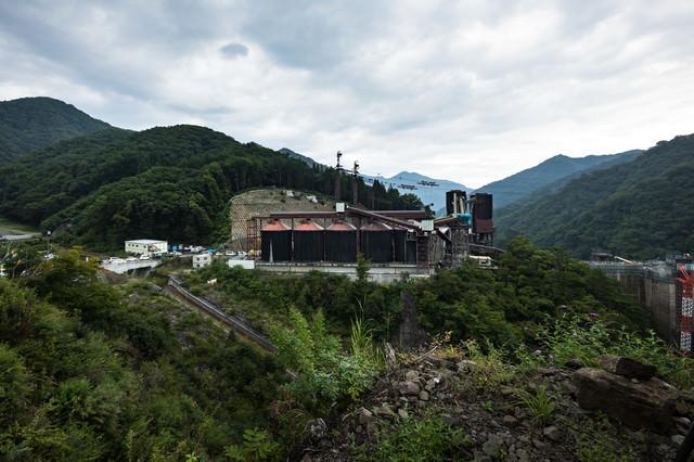 八ッ場ダムのコンクリート製造施設の写真