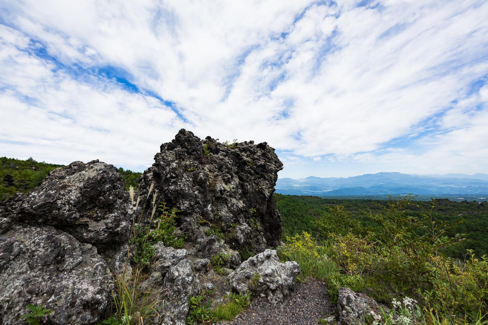 「浅間園の溶岩」の写真