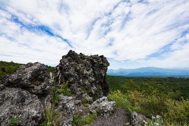 浅間園の溶岩の写真