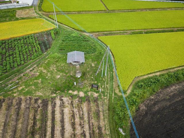 長野原町防空監視哨(上空から)の写真