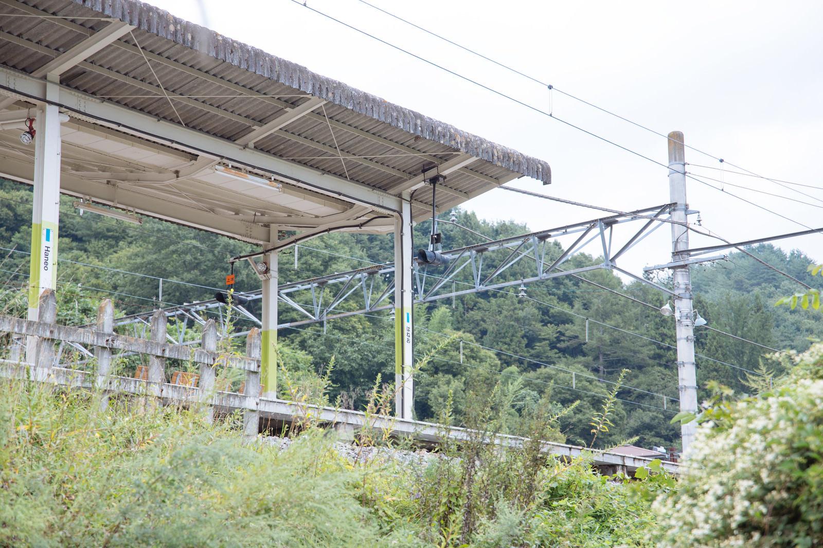 「羽根尾駅(はねお)のホーム」の写真