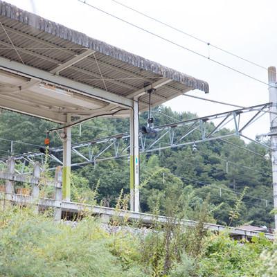 羽根尾駅(はねお)のホームの写真