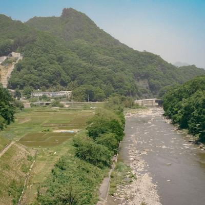 八ッ場ダムに沈む前の吾妻川と景観の写真