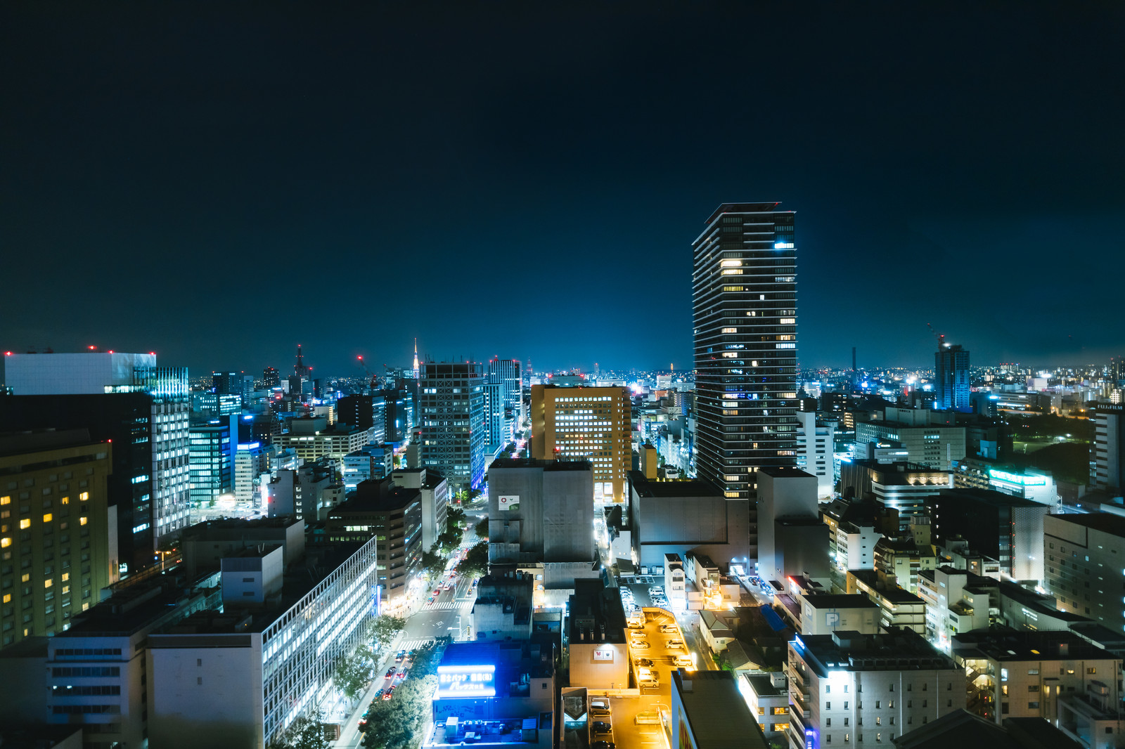 「名古屋の都心部(夜景)」の写真