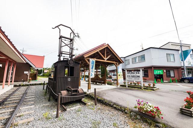 北軽井沢の駅舎跡の写真
