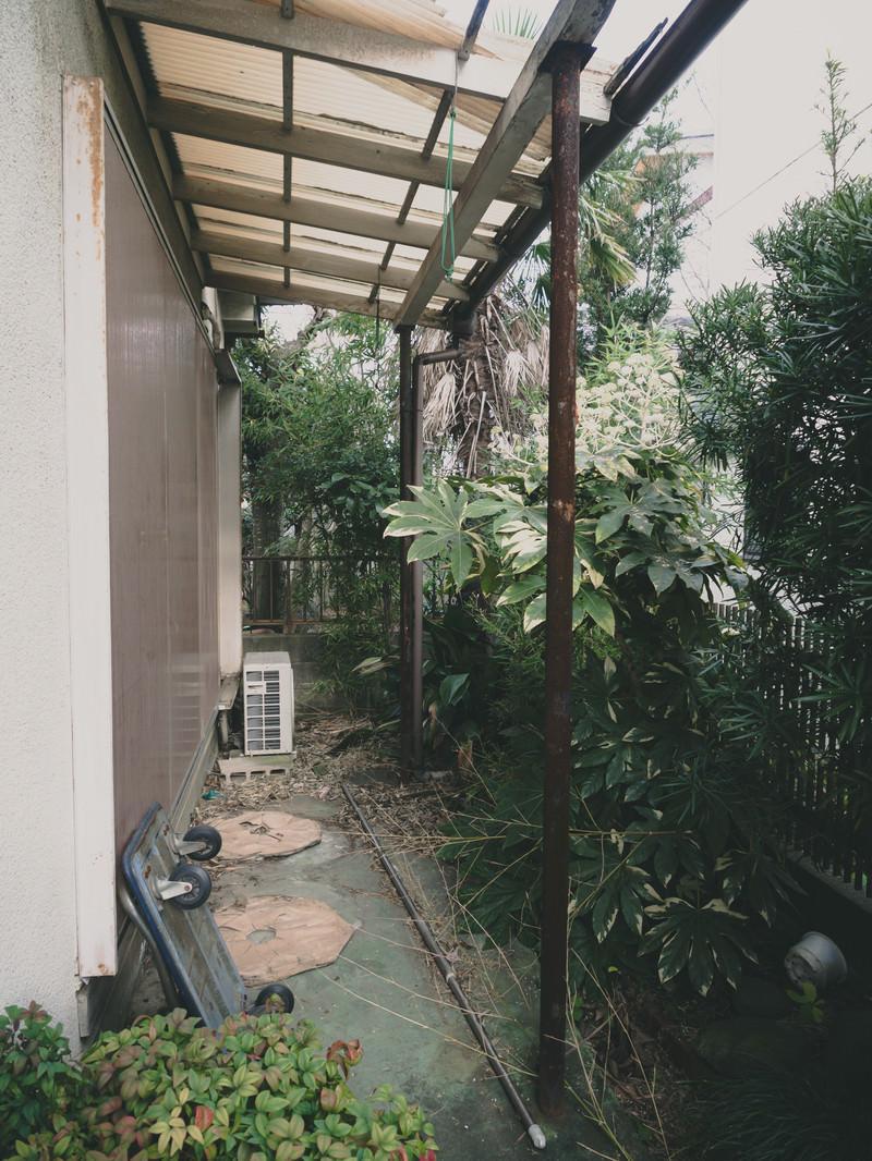 「引っ越して誰も住んでいない一軒家の庭」の写真