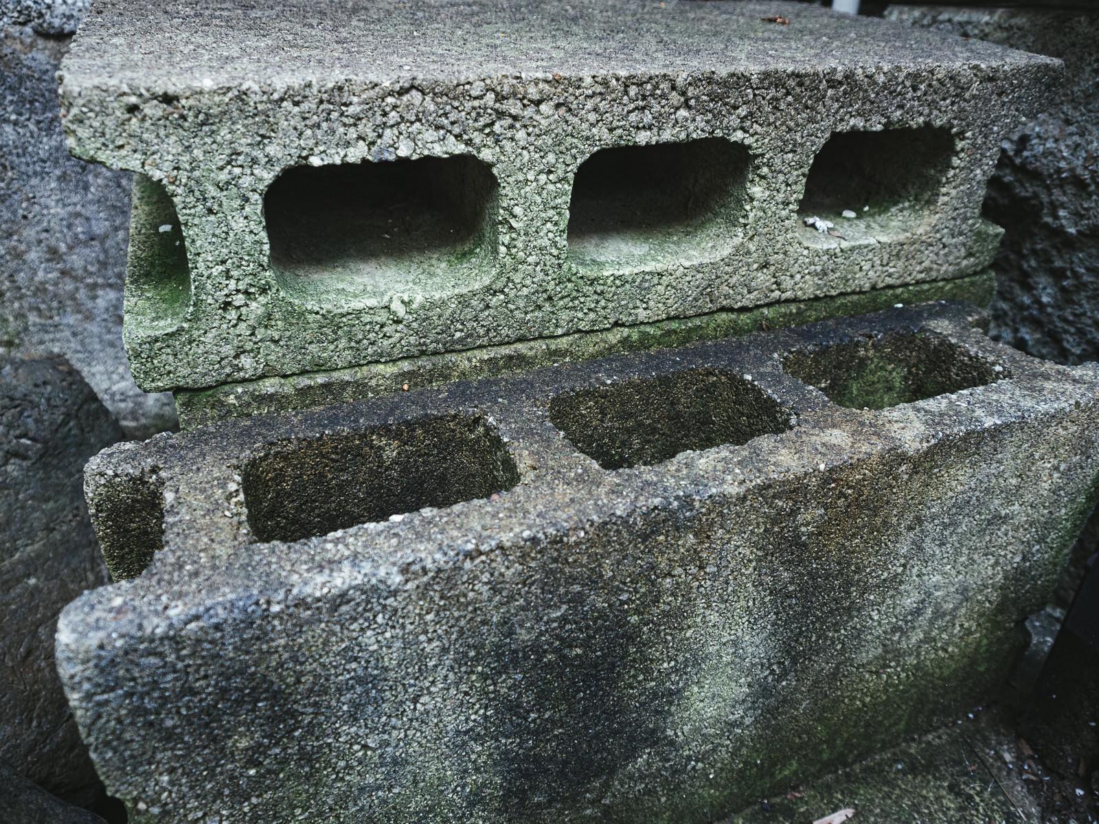 「汚れたブロック石」の写真
