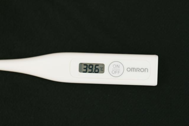 仮病で使うにはあまりにも高熱の写真
