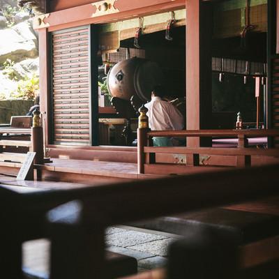 「鵜戸神宮神殿内の様子」の写真素材