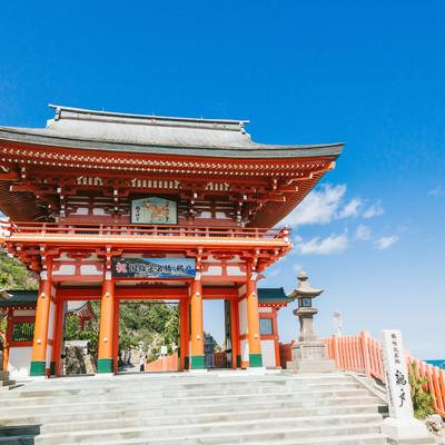 「鵜戸神宮の楼門」の写真素材