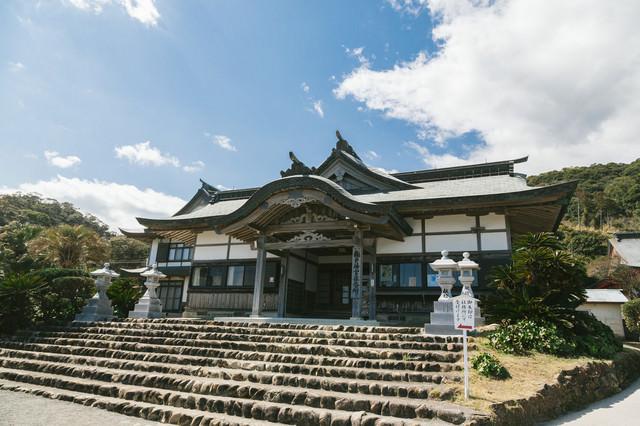 鵜戸神宮の古い社務所の写真