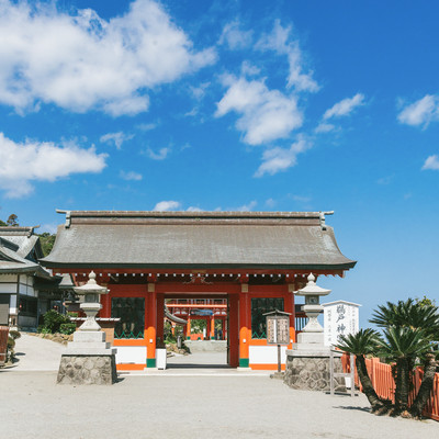 鵜戸神宮の神門の写真