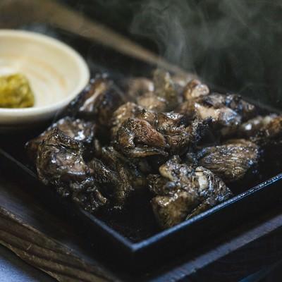 「できたてホヤホヤのみやざき地頭鶏の炭火焼き」の写真素材