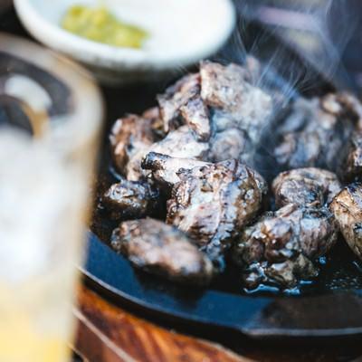 「お酒によく合う湯気たつみやざき地頭鶏」の写真素材