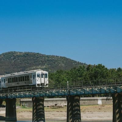 「乗車率1位のJR九州の観光列車「海幸山幸」」の写真素材