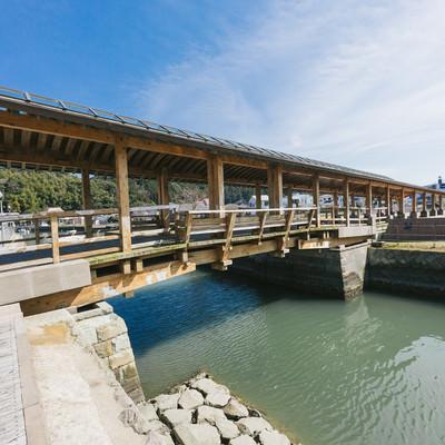「堀川運河にかかる夢見橋」の写真素材