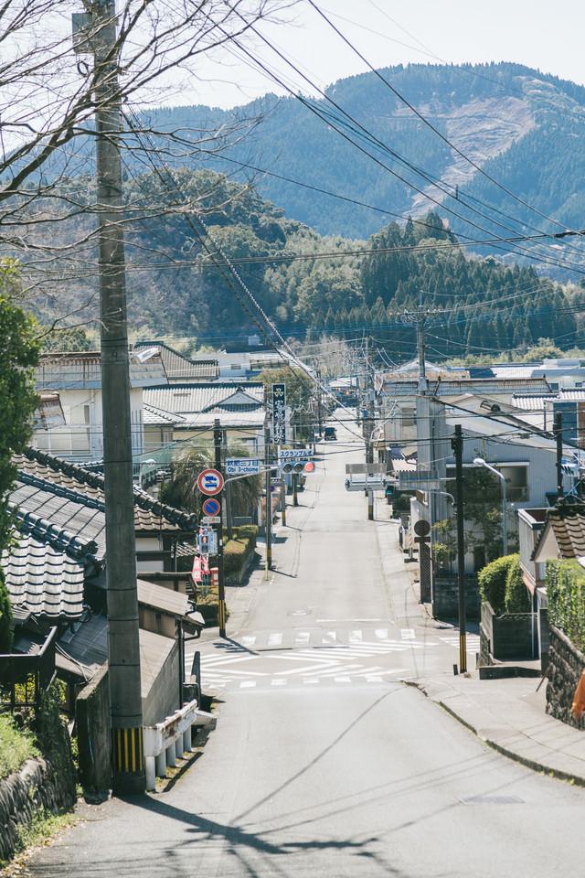 日本で2番目に小さいスクランブル交差点(飫肥三丁目)の写真