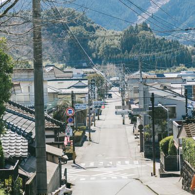 「日本で2番目に小さいスクランブル交差点(飫肥三丁目)」の写真素材
