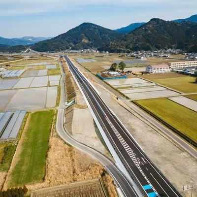 「全線開通を心待ちにする東九州自動車道」の写真素材