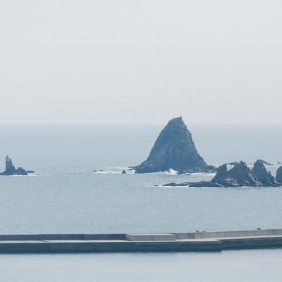 「七ツ岩(宮崎県日南市)」の写真素材