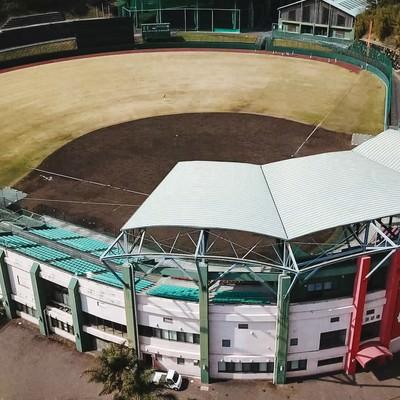 広島東洋カープの日南キャンプ地、天福球場の様子の写真