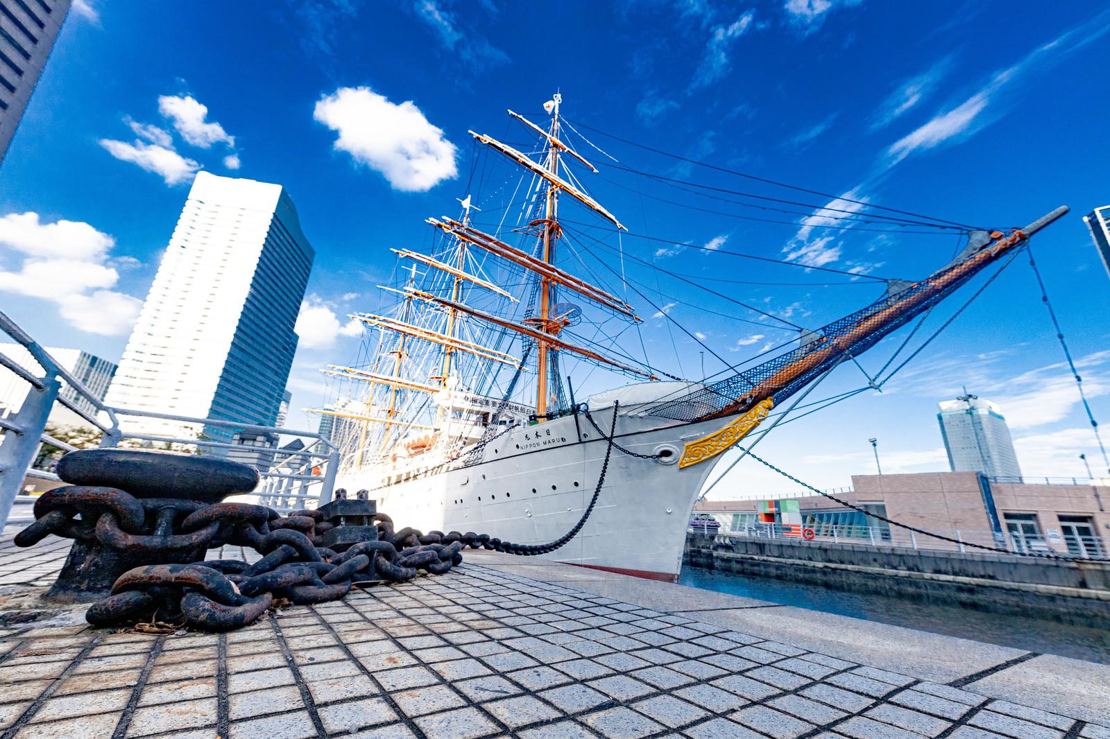 「帆船日本丸(日本丸メモリアルパーク)」の写真
