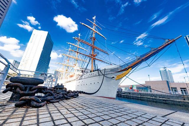 帆船日本丸(日本丸メモリアルパーク)の写真