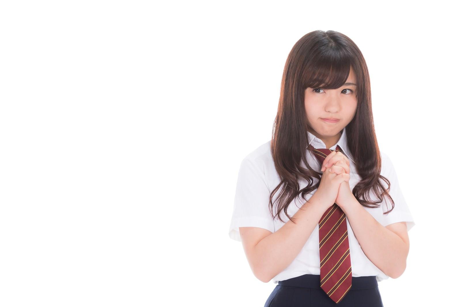 「奇跡を信じる女子高生」の写真[モデル:河村友歌]