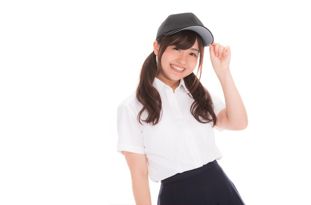 笑顔が可愛い女子マネの写真